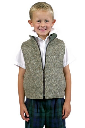 Gilet in Harris Tweed