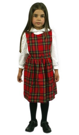 Tartan Pinafore with detachable bib
