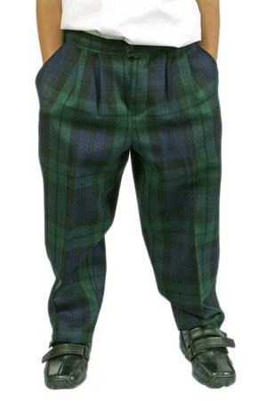 Tartan Trousers with half elasticated waist