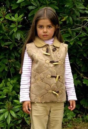 Childrens Gilet in Synthetic Suede