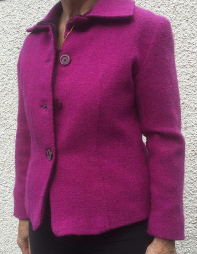 Ladies Harris Tweed Jacket Single Colour